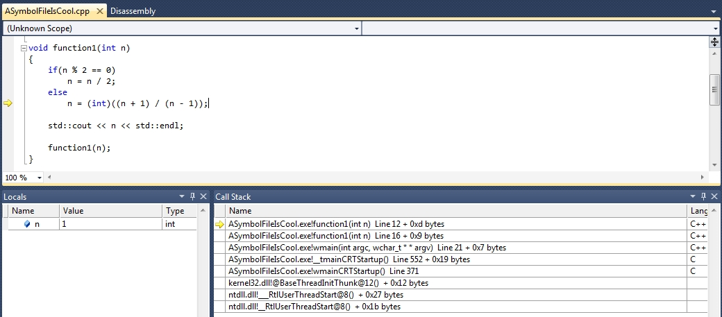 The first key for a successful debug on Windows : the